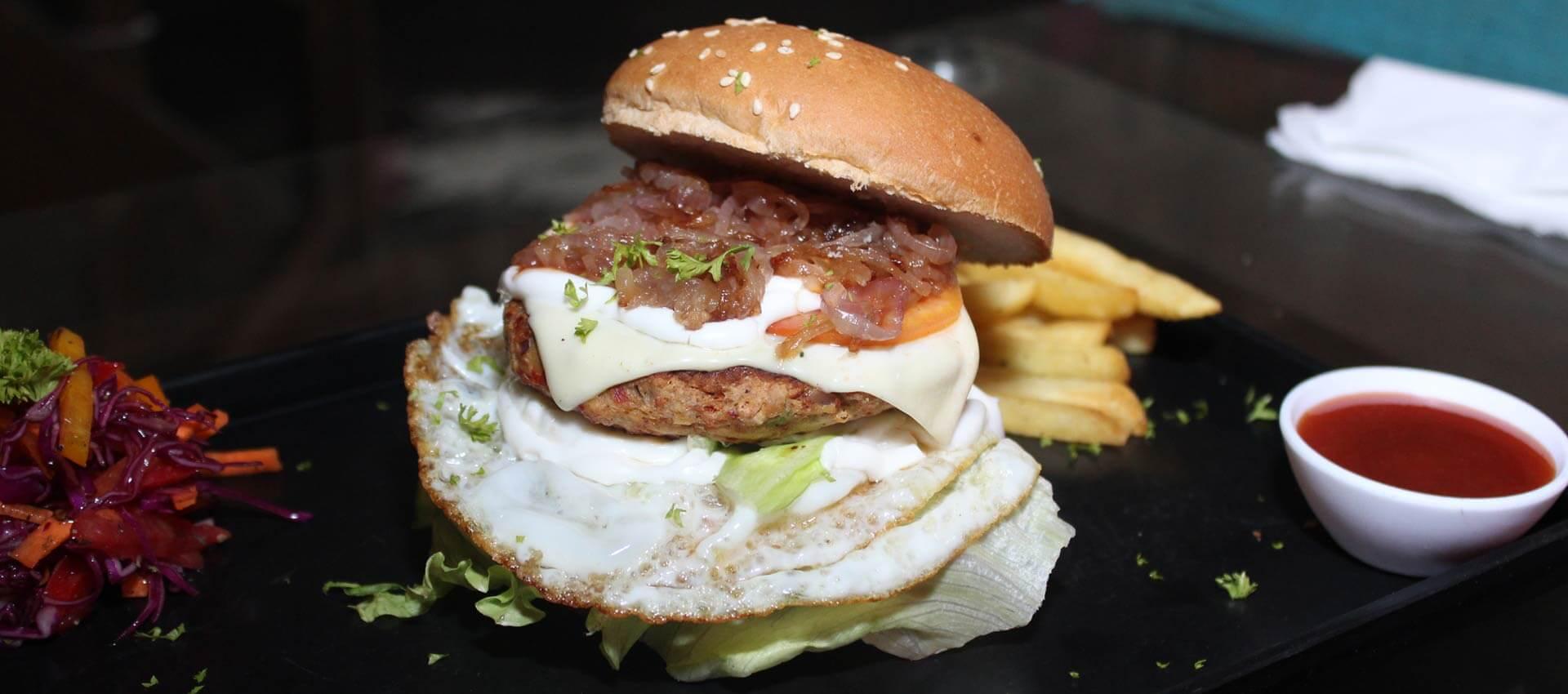 Chicken cheese Burger at HugsandMugs
